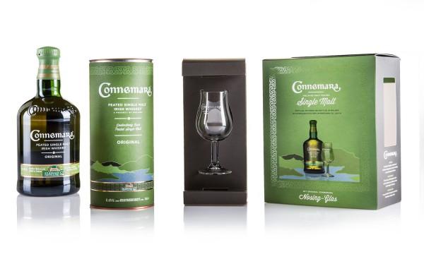 Connemara Peated inkl. Nosing Glas in Geschenkverpackung
