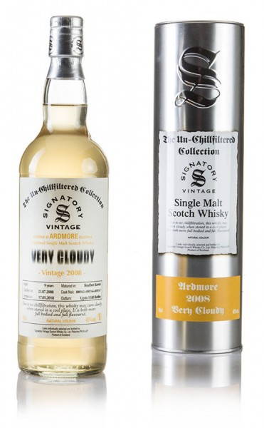 Ardmore Very Cloudy 2008 Signatory Vintage The Un-Chillfiltered Collection