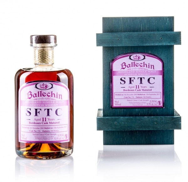 Ballechin 11 Jahre STRAIGHT FROM THE CASK (Bordeaux Cask) 57,1%